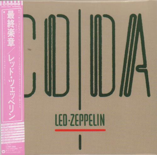 Led Zeppelin Coda CD album (CDLP) Japanese ZEPCDCO251614