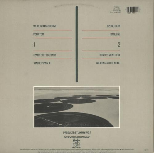 Led Zeppelin Coda vinyl LP album (LP record) German ZEPLPCO719234