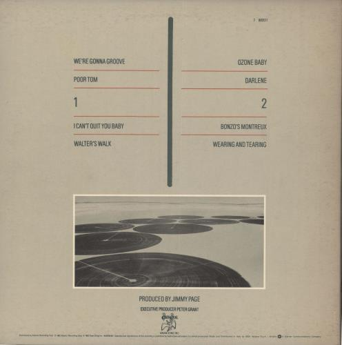 Led Zeppelin Coda vinyl LP album (LP record) Italian ZEPLPCO722637