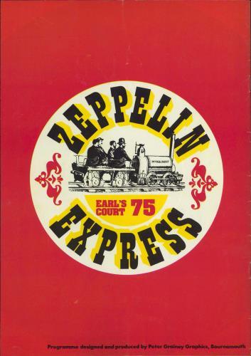 Led Zeppelin Earl's Court 75 + 17th Ticket tour programme UK ZEPTREA771067