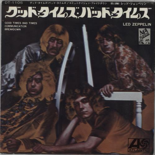 "Led Zeppelin Good Times Bad Times 7"" vinyl single (7 inch record) Japanese ZEP07GO217196"
