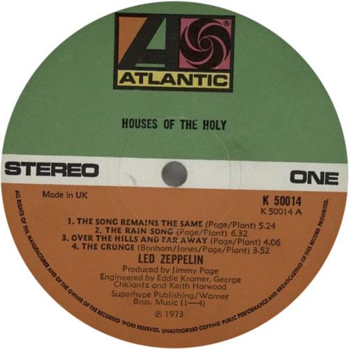 Led Zeppelin Houses Of The Holy - 1st - EX vinyl LP album (LP record) UK ZEPLPHO577347