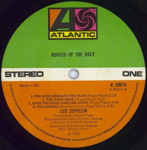 Led Zeppelin Houses Of The Holy - 1st - VG vinyl LP album (LP record) UK ZEPLPHO725214