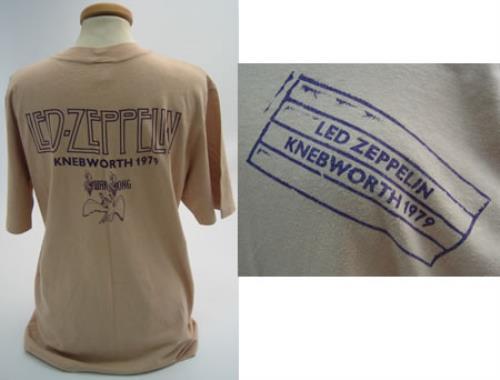 Led Zeppelin Knebworth 1979 Medium Uk Promo T Shirt 370781