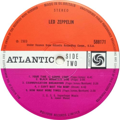 Led Zeppelin Led Zeppelin - 1st [A] - EX vinyl LP album (LP record) UK ZEPLPLE710610