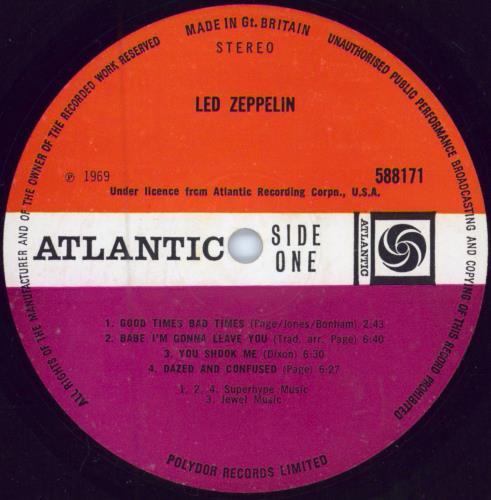 Led Zeppelin Led Zeppelin - 1st [A] - VG vinyl LP album (LP record) UK ZEPLPLE341231