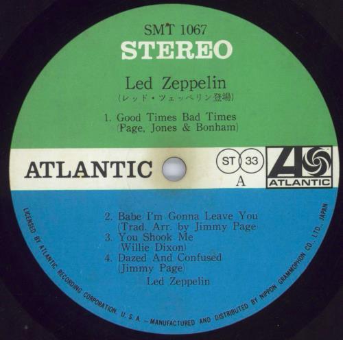 Led Zeppelin Led Zeppelin - 1st - EX vinyl LP album (LP record) Japanese ZEPLPLE531403