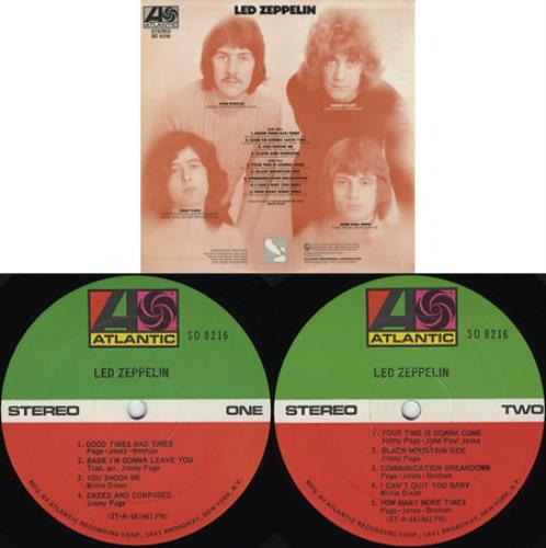 Led Zeppelin Led Zeppelin - 2nd vinyl LP album (LP record) US ZEPLPLE378945