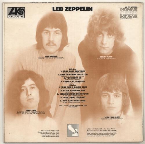 Led Zeppelin Led Zeppelin - 3rd - EX vinyl LP album (LP record) UK ZEPLPLE391955