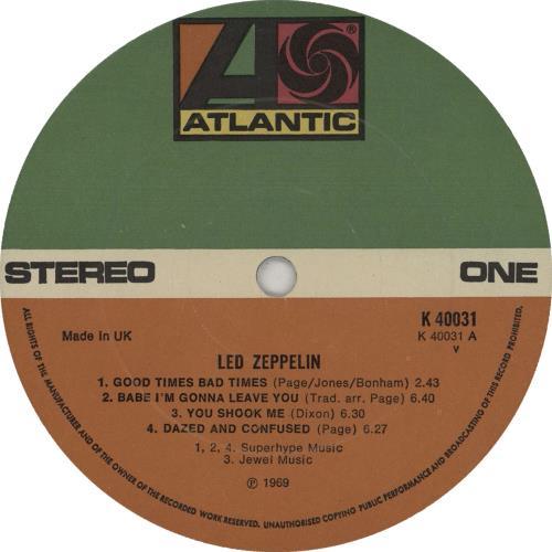Led Zeppelin Led Zeppelin - 5th vinyl LP album (LP record) UK ZEPLPLE662070