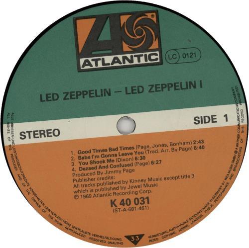 Led Zeppelin Led Zeppelin - Non barcoded vinyl LP album (LP record) German ZEPLPLE646908