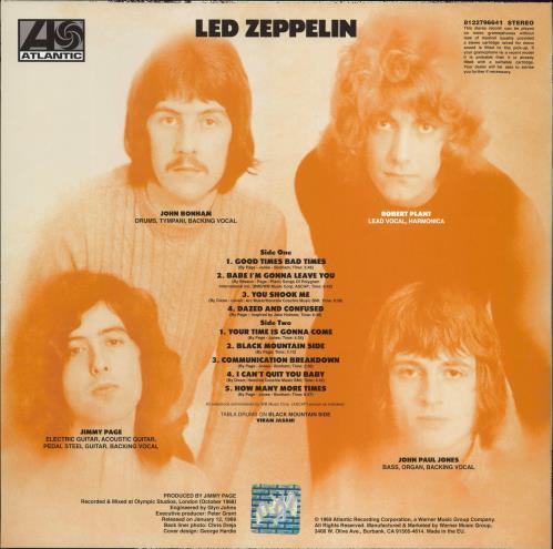 Led Zeppelin Led Zeppelin - Remastered vinyl LP album (LP record) UK ZEPLPLE768199