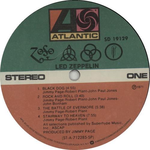 Led Zeppelin Led Zeppelin 4 - Stickered Open Shrink vinyl LP album (LP record) US ZEPLPLE644099