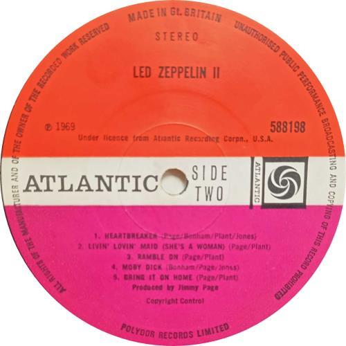 Led Zeppelin Led Zeppelin II - 1st Transitional 2nd lbl vinyl LP album (LP record) UK ZEPLPLE772463