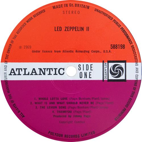 Led Zeppelin Led Zeppelin II - 2nd - EX vinyl LP album (LP record) UK ZEPLPLE528402