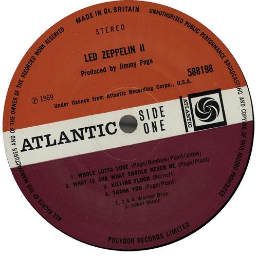 Led Zeppelin Led Zeppelin II - 3rd - EX vinyl LP album (LP record) UK ZEPLPLE583202