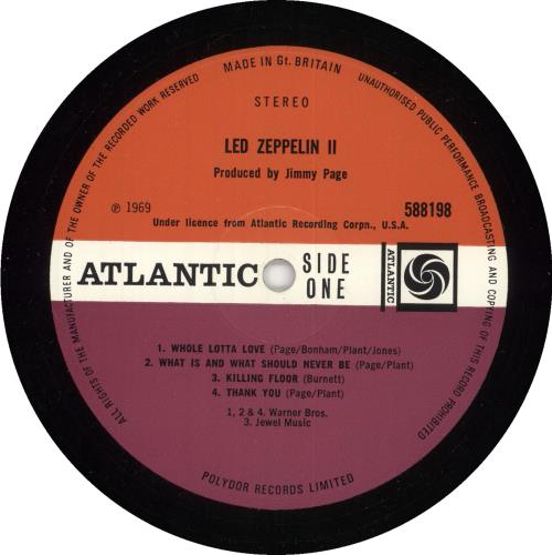 Led Zeppelin Led Zeppelin II - 3rd - VG vinyl LP album (LP record) UK ZEPLPLE580207