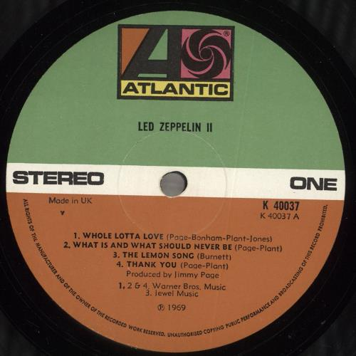 Led Zeppelin Led Zeppelin II - 4½ vinyl LP album (LP record) UK ZEPLPLE718536