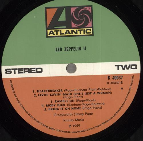 Led Zeppelin Led Zeppelin II - 4½ vinyl LP album (LP record) UK ZEPLPLE718536
