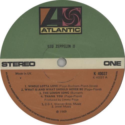 Led Zeppelin Led Zeppelin II - 5th vinyl LP album (LP record) UK ZEPLPLE662074