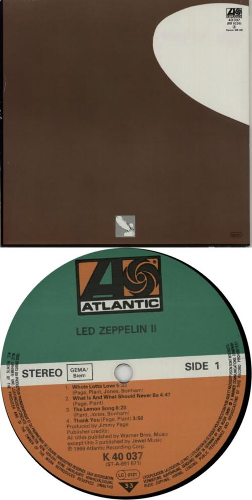 Led Zeppelin Led Zeppelin Ii 80s German Vinyl Lp Album