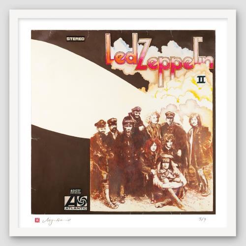 Led Zeppelin Led Zeppelin II - SuperSizeArt Numbered Print artwork UK ZEPARLE731124