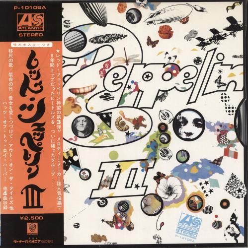 Led Zeppelin Led Zeppelin Iii Poster Japanese Vinyl Lp