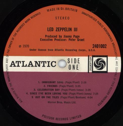 Led Zeppelin Led Zeppelin III - 1st - EX vinyl LP album (LP record) UK ZEPLPLE583204