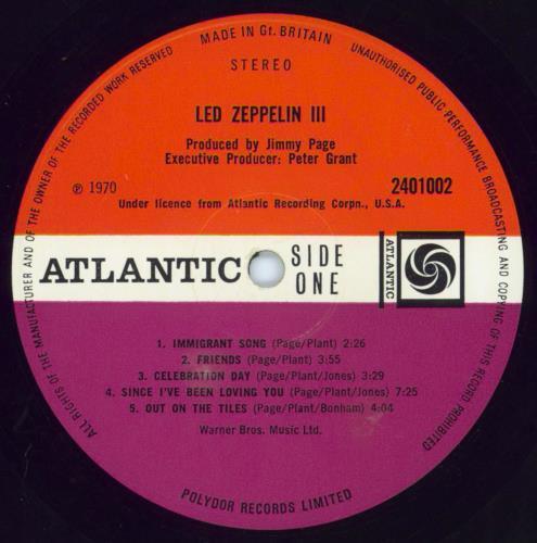 Led Zeppelin Led Zeppelin III - 1st - VG vinyl LP album (LP record) UK ZEPLPLE583064