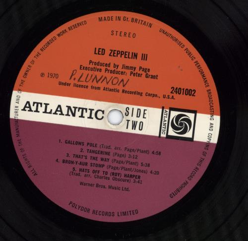 Led Zeppelin Led Zeppelin III - 1st - WOL - VG vinyl LP album (LP record) UK ZEPLPLE686066