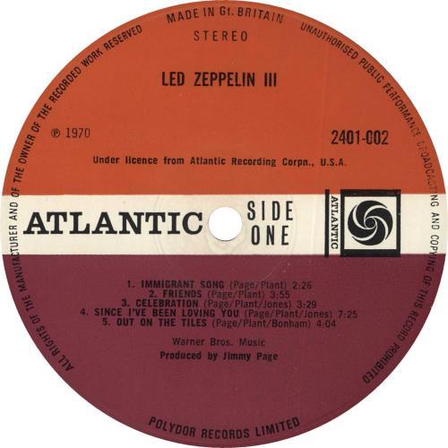 Led Zeppelin Led Zeppelin III - 2nd - EX vinyl LP album (LP record) UK ZEPLPLE581601