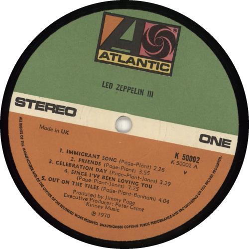 Led Zeppelin Led Zeppelin III - 5th vinyl LP album (LP record) UK ZEPLPLE689838