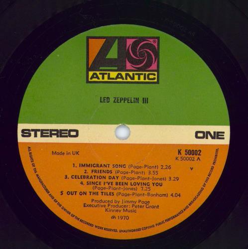 Led Zeppelin Led Zeppelin III - 70s vinyl LP album (LP record) UK ZEPLPLE774527
