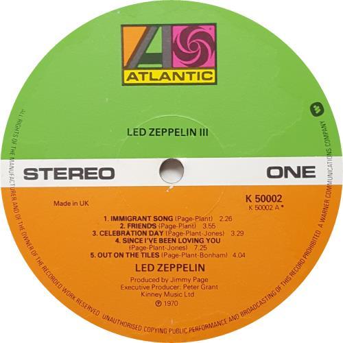 Led Zeppelin Led Zeppelin III - 8th vinyl LP album (LP record) UK ZEPLPLE646909
