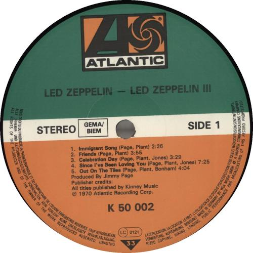 Led Zeppelin Led Zeppelin III - Barcoded vinyl LP album (LP record) German ZEPLPLE329450