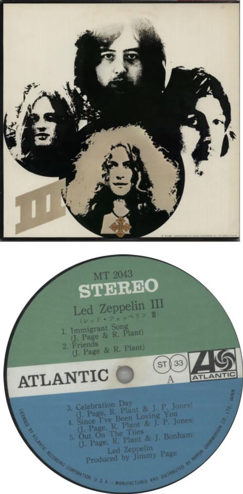 Led Zeppelin Led Zeppelin III - Complete vinyl LP album (LP record) Japanese ZEPLPLE242000