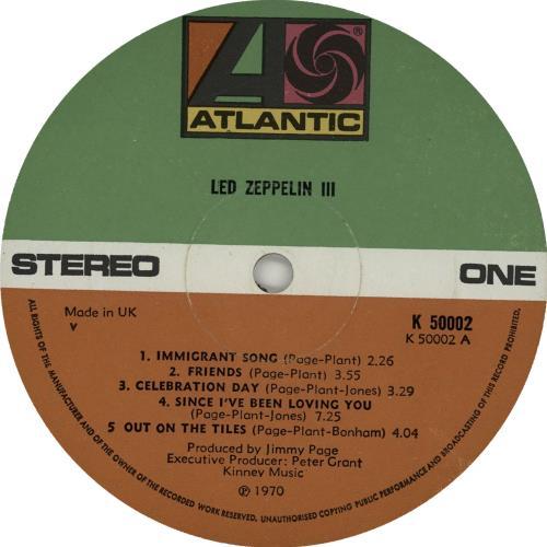 Led Zeppelin Led Zeppelin III - UK vinyl vinyl LP album (LP record) German ZEPLPLE655669