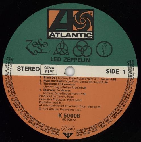 Led Zeppelin Led Zeppelin IV - 80s vinyl LP album (LP record) German ZEPLPLE765428