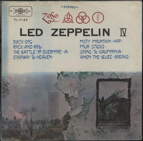 Led Zeppelin Led Zeppelin Iv Taiwanese Vinyl Lp Album Lp