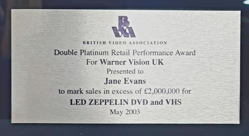 Led Zeppelin Led Zeppelin award disc UK ZEPAWLE761434