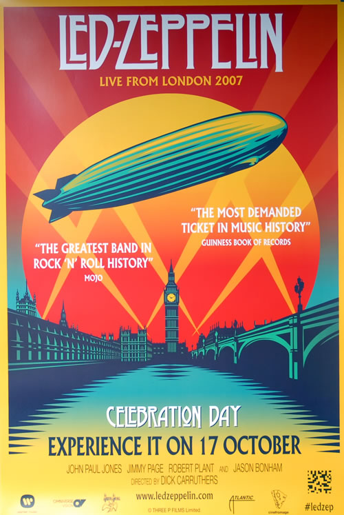 Led Zeppelin Live From London 2007 - Celebration Day poster UK ZEPPOLI577157