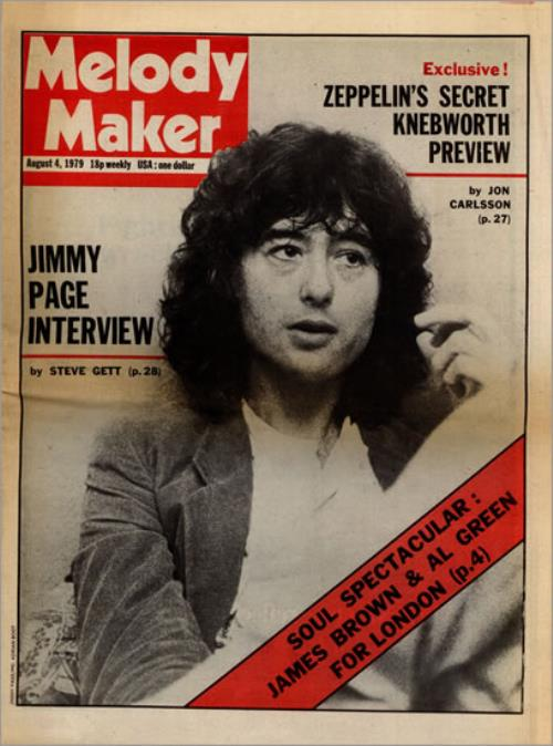 Led Zeppelin Melody Maker August 4th 1979 Uk Magazine