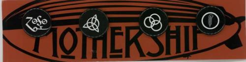 Led Zeppelin Mothership Badges badge UK ZEPBGMO598568