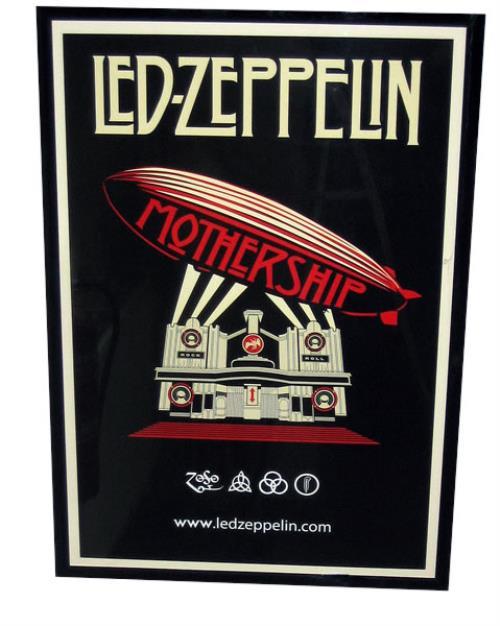Led Zeppelin Mothership Framed Lithograph 30 X 20 Uk Promo