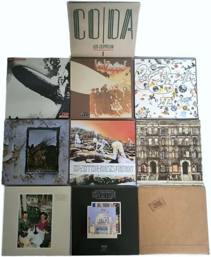 Led Zeppelin Paper Sleeve Collection - German CD album (CDLP) German ZEPCDPA610358