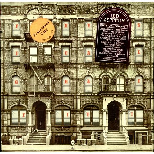 Led Zeppelin Physical Graffiti + Promo/Tracklisting Stickers 2-LP vinyl record set (Double Album) US ZEP2LPH422647
