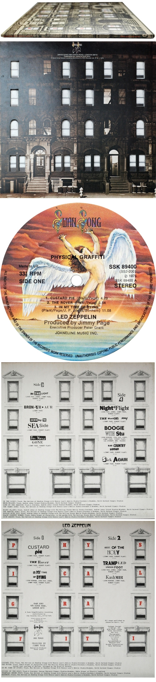 Led Zeppelin Physical Graffiti - 1st 2-LP vinyl record set (Double Album) UK ZEP2LPH171353