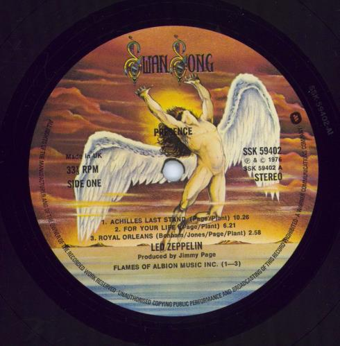 Led Zeppelin Presence - 1½ - Title Stickered Sleeve vinyl LP album (LP record) UK ZEPLPPR769501