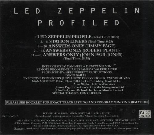 Led Zeppelin Profiled - Sealed CD album (CDLP) US ZEPCDPR644189