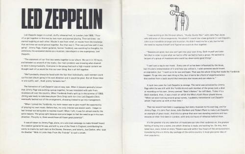 Led Zeppelin Show Souvenir - 1st tour programme UK ZEPTRSH683461